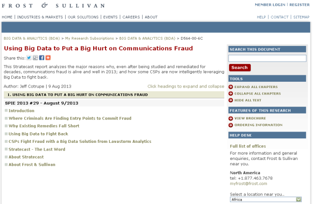 Using Big Data to Put a Big Hurt on Communications Fraud 08-12-2013