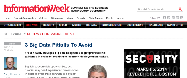 3 Big Data Pitfalls To Avoid - for mP+ InformationWeek 02-05-2014